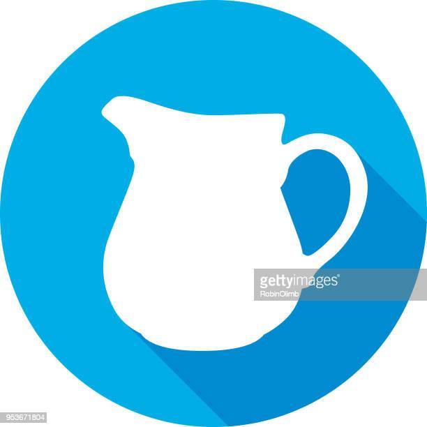round water pitcher icon 2 - jug stock illustrations, clip art, cartoons, & icons