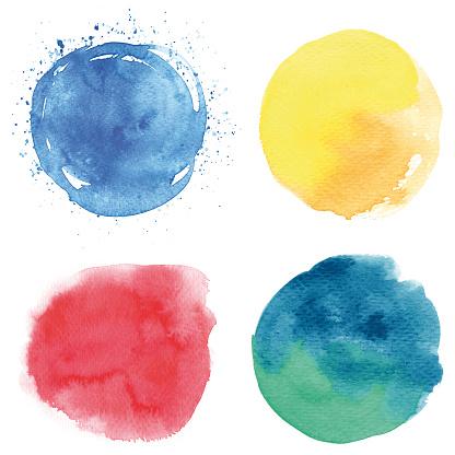 Round watercolor spots - gettyimageskorea