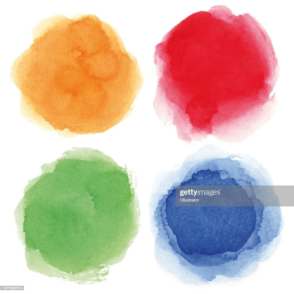 Round watercolor spots : stock illustration