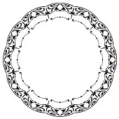Rounded frame in the style of Art Nouveau.