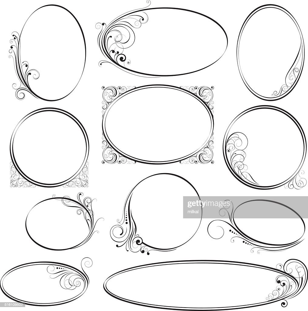 Rounded ornamental frames