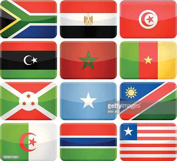 rounded rectangle flag icons - africa - morocco stock illustrations, clip art, cartoons, & icons