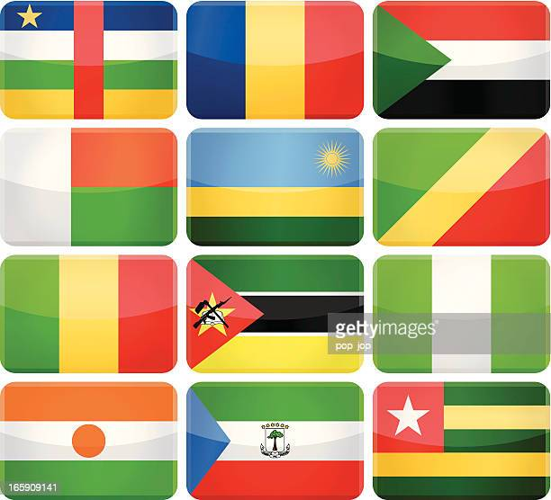 rounded rectangle flag icons - africa - mali stock illustrations, clip art, cartoons, & icons