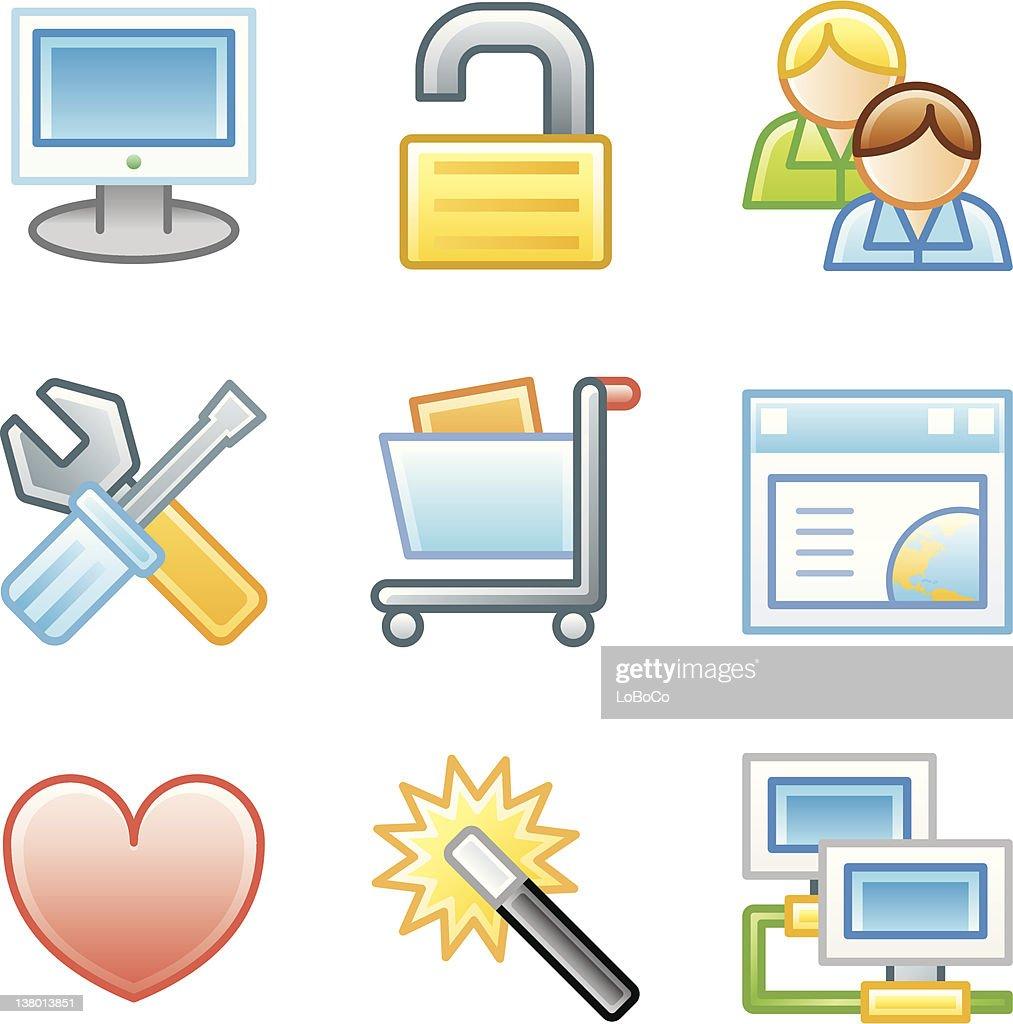 'Roundi' Icon Set - Internet