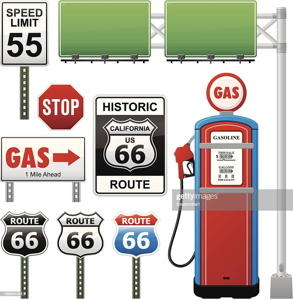 Route 66 Collection : stock illustration