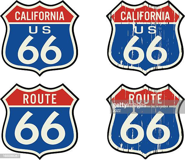 route 66 color sign
