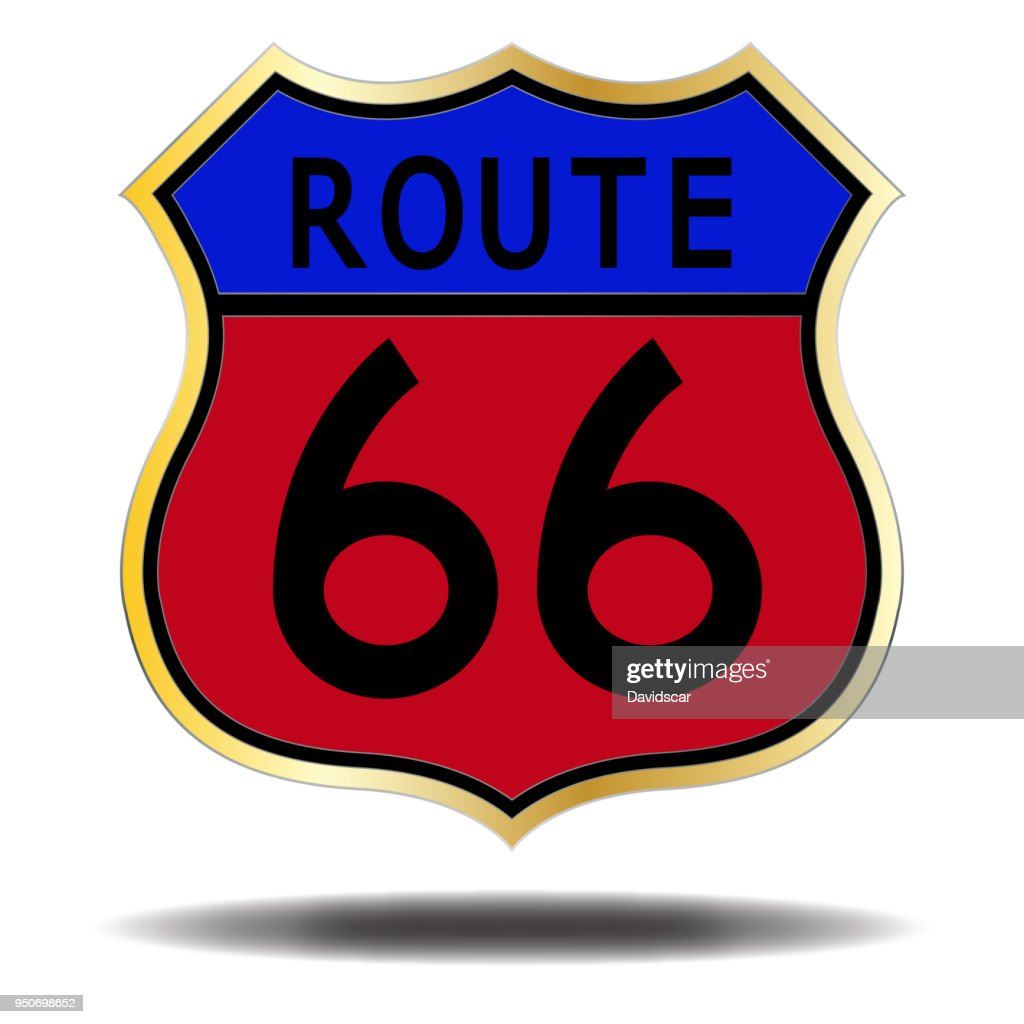 Route 66 Coloured Sign