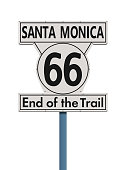 Route 66 end of the trail road sign