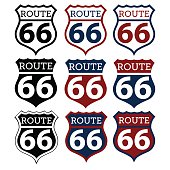 Route 66 highway sign