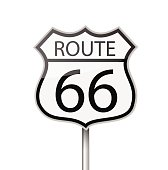 Route 66 road sign vector