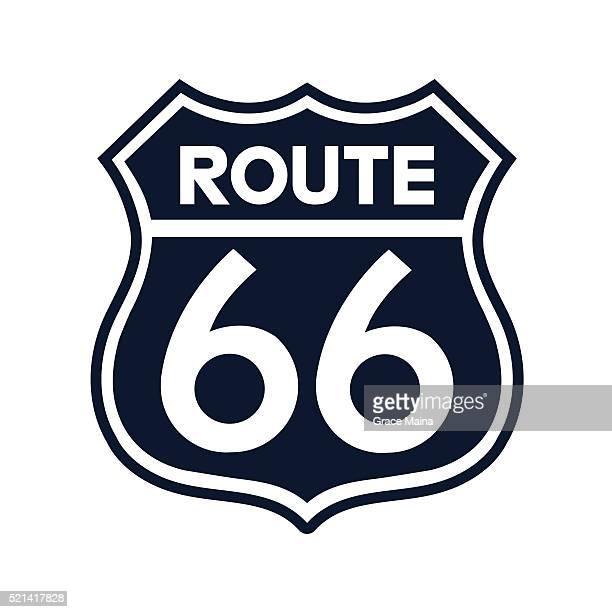 Route 66 Sign Illustration - VECTOR