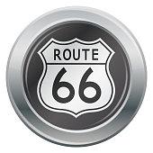 Route 66 Silver Icon