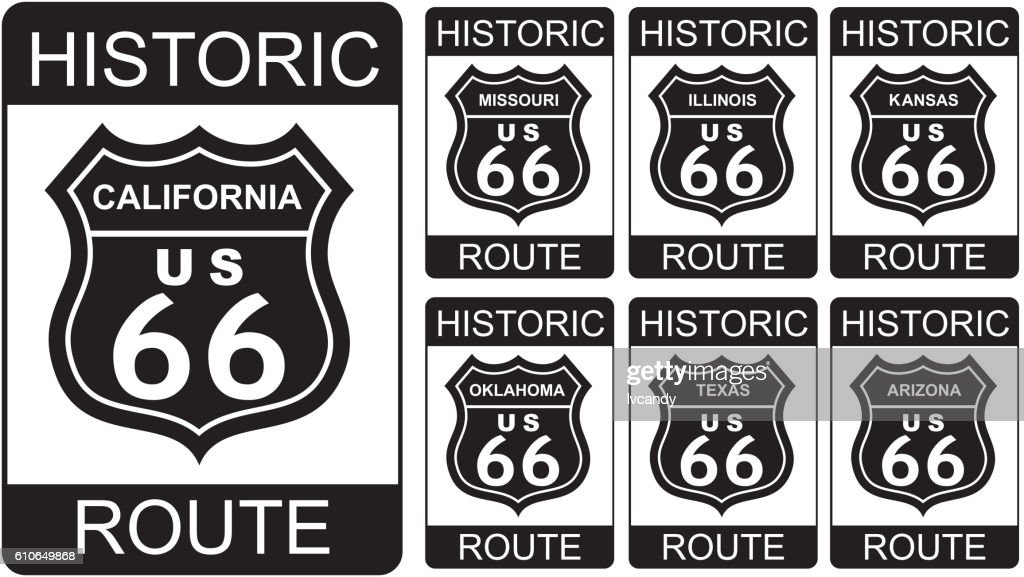 Route 66 Symbol Vector Art Getty Images
