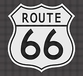 Route 66 White Dot Sign