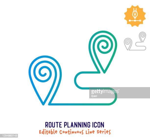 ルート計画連続線編集可能線 - 副操縦士点のイラスト素材/クリップアート素材/マンガ素材/アイコン素材