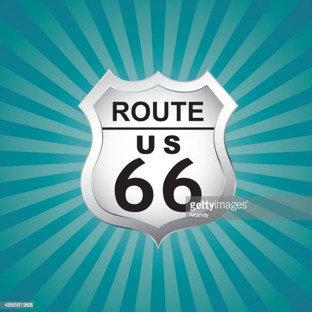 Route US 66 badge