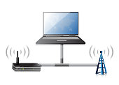 router electronic technology communication illustration design graphic