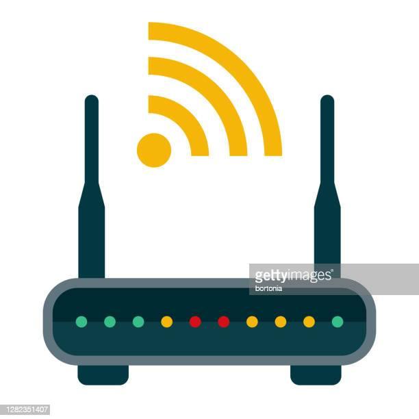 illustrazioni stock, clip art, cartoni animati e icone di tendenza di icona router su sfondo trasparente - tecnologia mobile