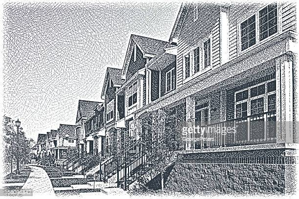 Row Of Town Houses