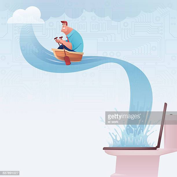 rowing - waterfall stock illustrations, clip art, cartoons, & icons