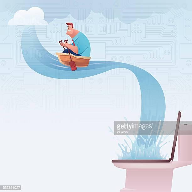 ilustraciones, imágenes clip art, dibujos animados e iconos de stock de de remo - baño