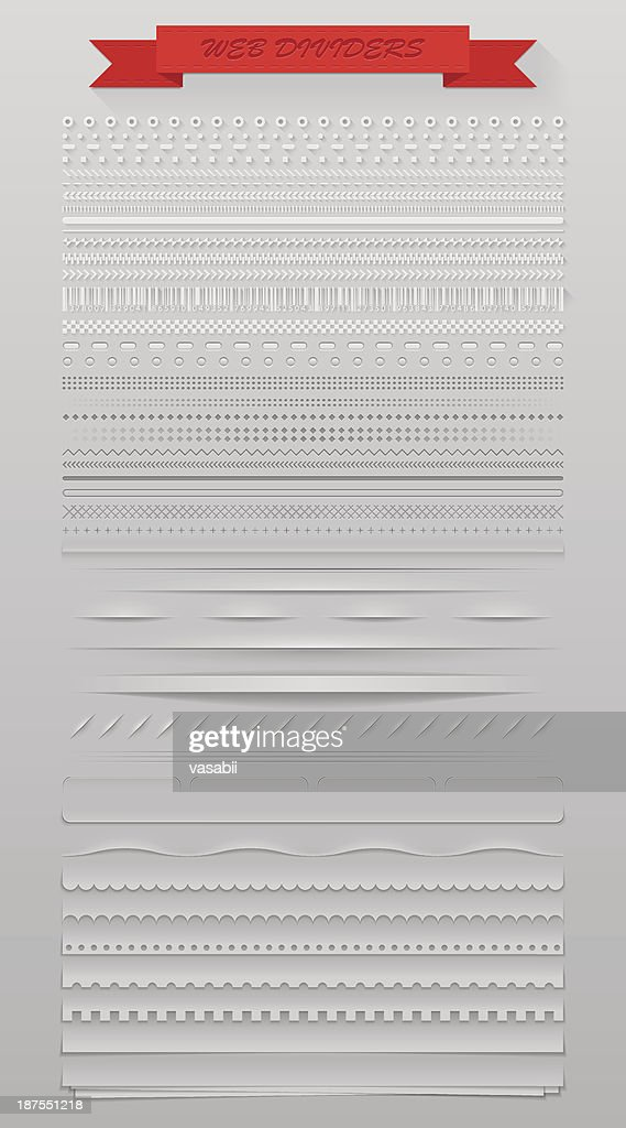 Rows of different web dividers