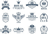 Royal and luxury badges set
