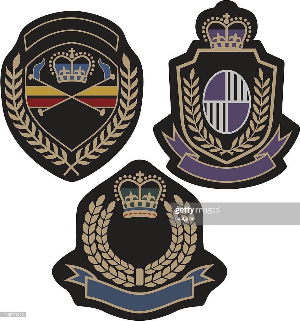 royal badge shield design