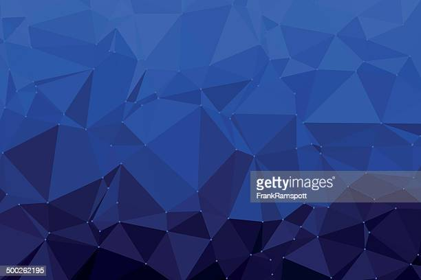 Royal Blue Triangle Polygon Pattern