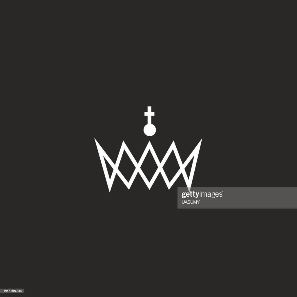 Royal crown monogram icon