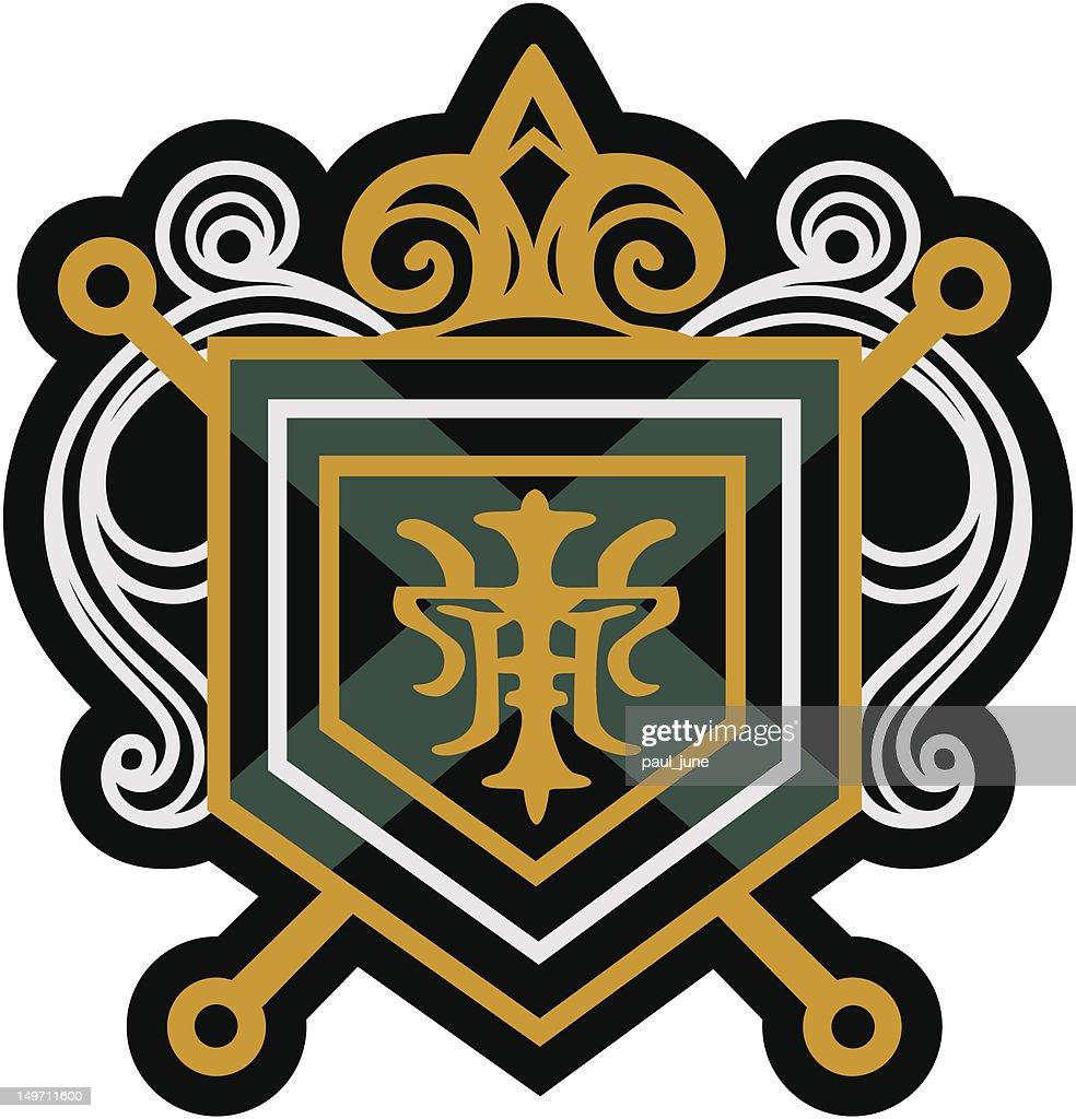 royal emblem badge design