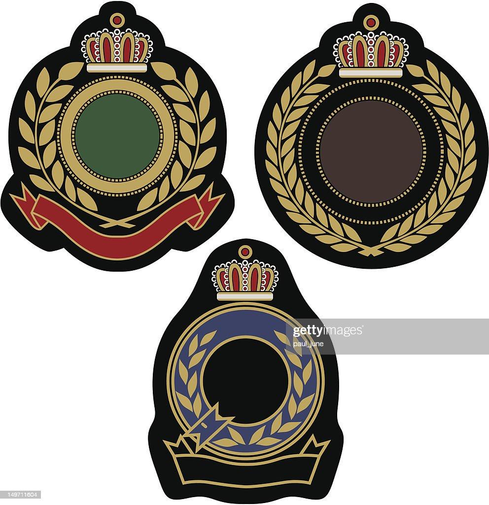 royal emblem classic shield design