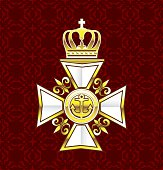 Royal Gold White Navy Cross