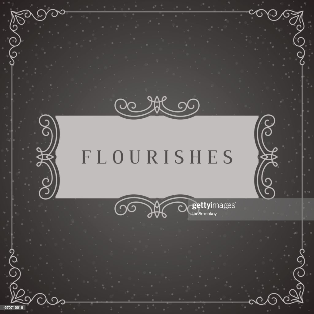Royal icon Design Template Vector Decoration, Flourishes Calligraphic Elegant Ornament Frame Lines. Good for Luxury