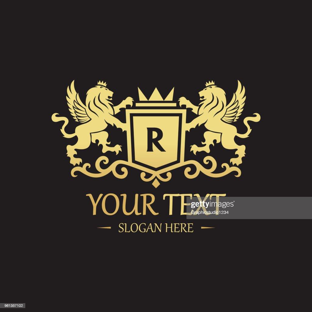 Royal Lion icon - Vector illustration