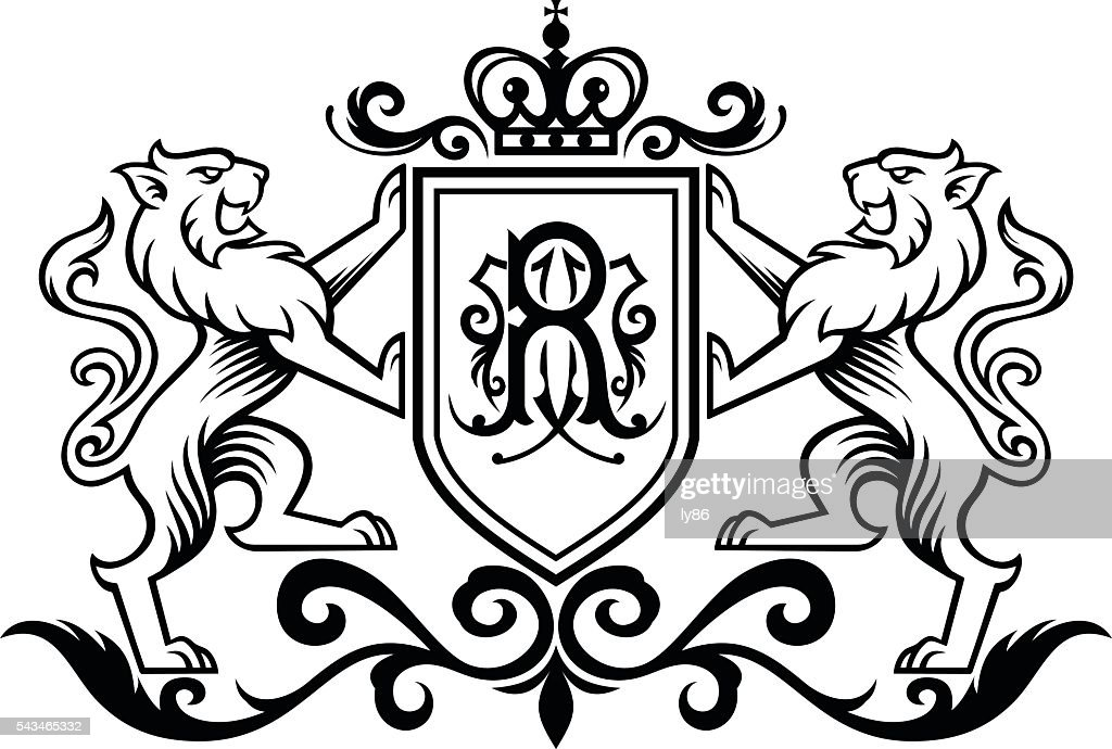 Royal Lion : stock illustration