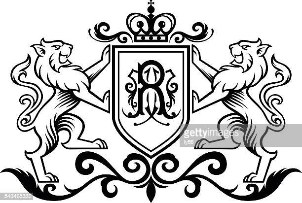 stockillustraties, clipart, cartoons en iconen met royal lion - koningschap