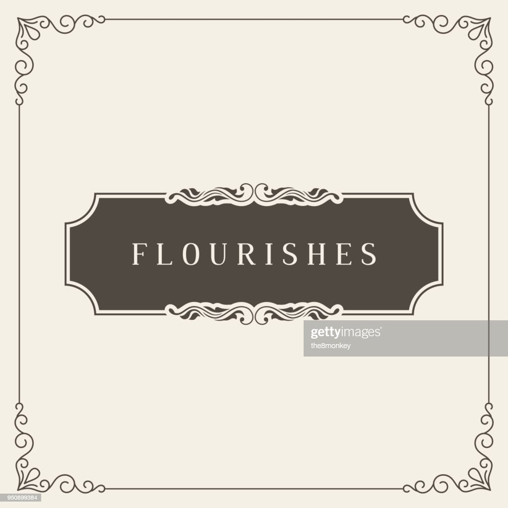 Royal Logo Design Template Vector Decoration, Flourishes Calligraphic Elegant Ornament Frame Lines. Good for Luxury