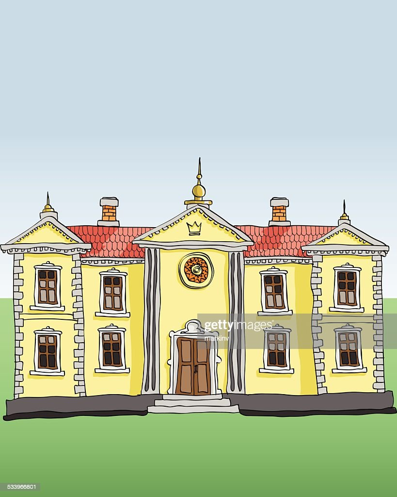 Royal palace vector