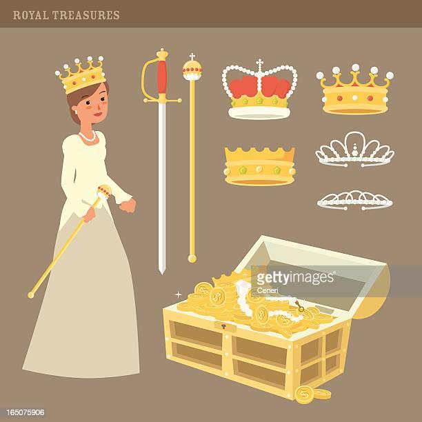 ilustrações, clipart, desenhos animados e ícones de royal tesouros - realeza