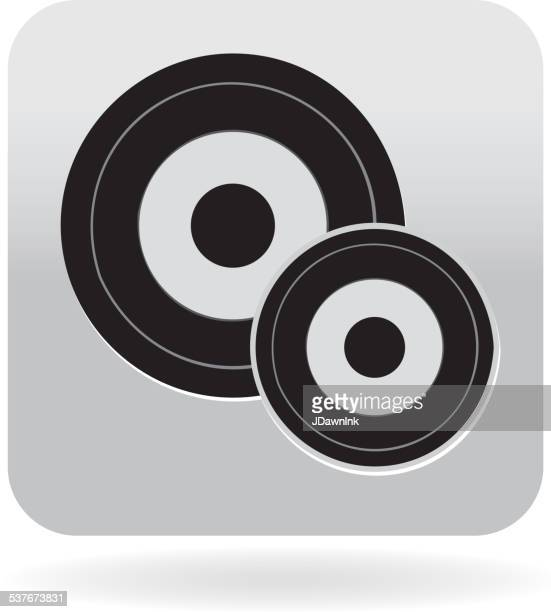Royalty free 45 rpm record or vinyl icon