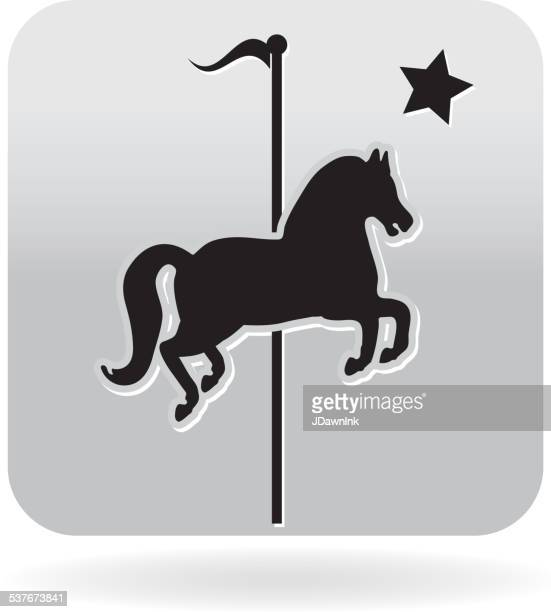 Royalty free carousel horse silhouette icon