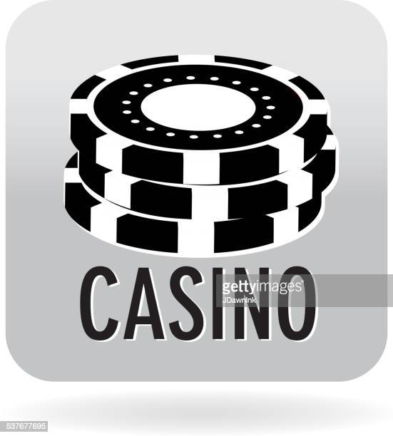 Royalty free Casino chips icon with text