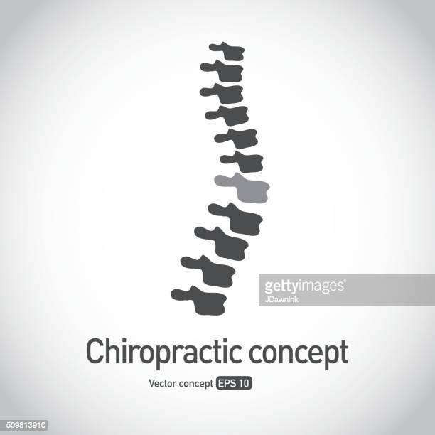 Quiropractico sin royalties de símbolo de icono de la columna vertebral concepto