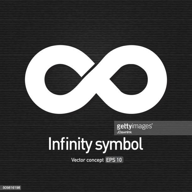Royalty free infinity symbol icon concept