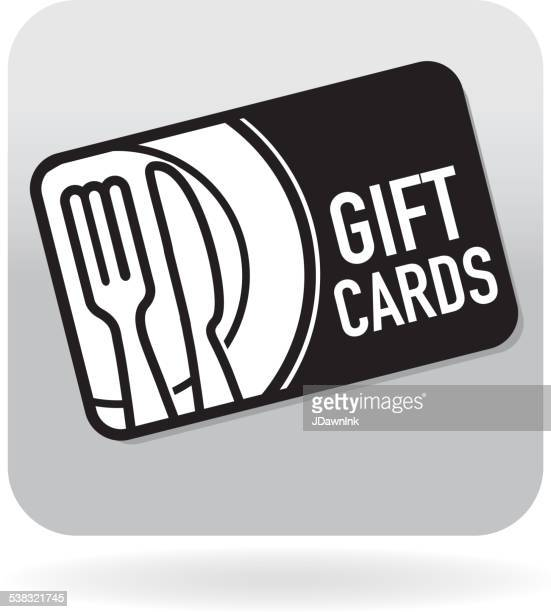 Royalty free restaurant food simple gift card swipe card icon