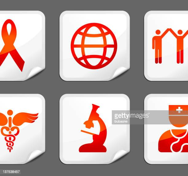 SIDA de arte vetorial royalty-free de autocolantes