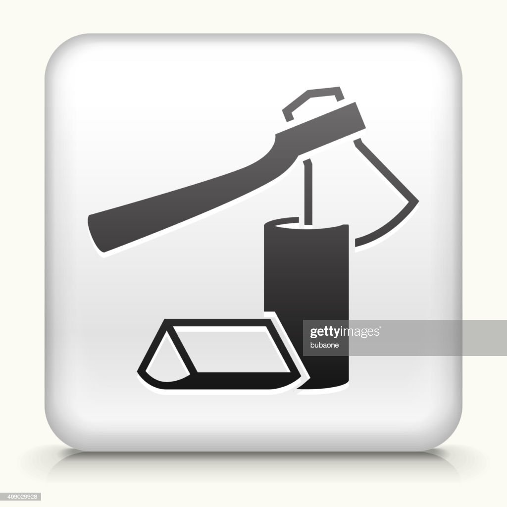 Royalty free vector icon button with Chopping Logs