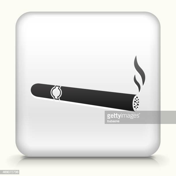 royalty free vector icon button with cigarette smoking icon - tobacco crop stock illustrations, clip art, cartoons, & icons