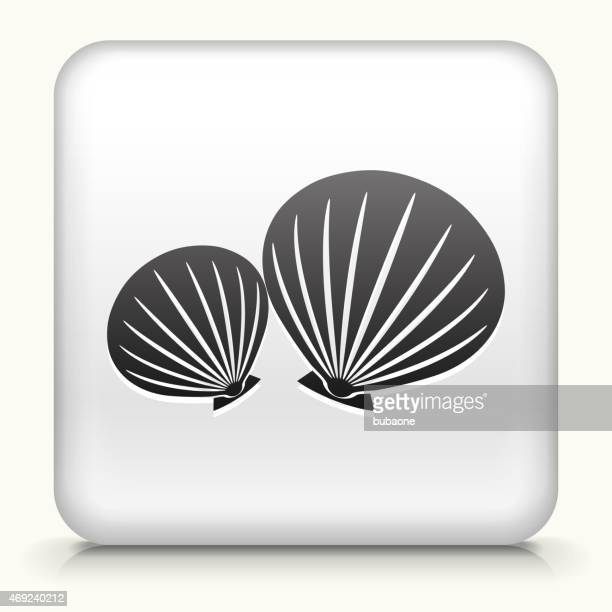 Royalty free vector icon button with Clams Icon